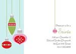 Noteworthy Collections - Holiday Invitations (Retro Ornaments Invite)
