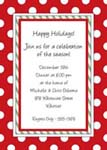 Noteworthy Collections - Holiday Invitations (Holiday Polka Dots Invite)