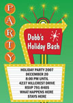 Noteworthy Collections - Holiday Invitations (Retro Party Sign Invite)