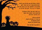 Noteworthy Collections - Halloween Invitations (Tree and Pumpkin Silhouette)