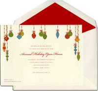 William Arthur Holiday Invitations - Festive Ornamnents