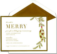 William Arthur Holiday Invitations - Dangling Ornament