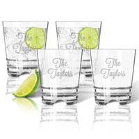 Personalized Clarus Double Old Fashioned: Set Of 4