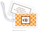 Boatman Geller - Create-Your-Own Luggage/ID Tags - Bristol Tile Tangerine