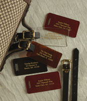 Rytex - Lucite Luggage Tags
