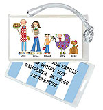 Starfish Art Luggage Tags - Create-Your-Own Family - Blue Back