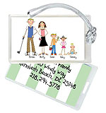 Starfish Art Luggage Tags - Create-Your-Own Family - Green Back