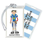 Starfish Art Luggage Tags - Football Boy