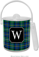 Boatman Geller Lucite Ice Buckets - Black Watch Plaid (Pre-Set)