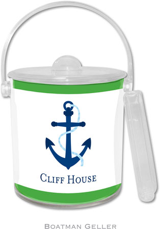 Boatman Geller - Create-Your-Own Personalized Lucite Ice Buckets (Icon with Border)