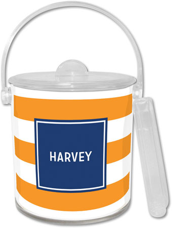 Boatman Geller - Create-Your-Own Lucite Ice Buckets (Awning Stripe)