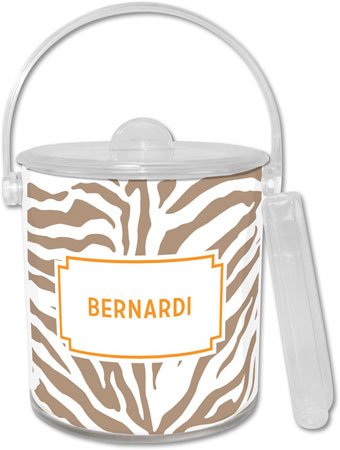 Boatman Geller - Create-Your-Own Lucite Ice Buckets (Zebra)