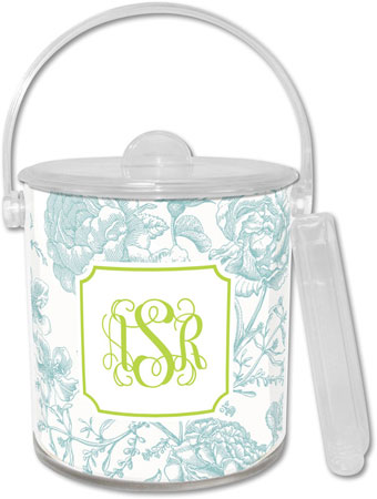 Boatman Geller - Create-Your-Own Lucite Ice Buckets (Floral Toile)