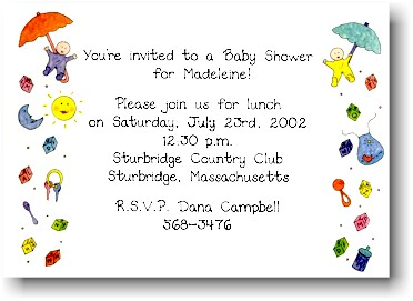 Blue Mug Designs Invitations - Baby Shower