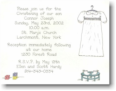 Blue Mug Designs Invitations - Christening