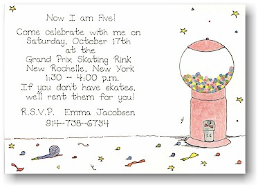 Blue Mug Designs Invitations - Bubbles of Fun