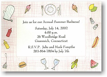 Blue Mug Designs Invitations - Summer Picnic
