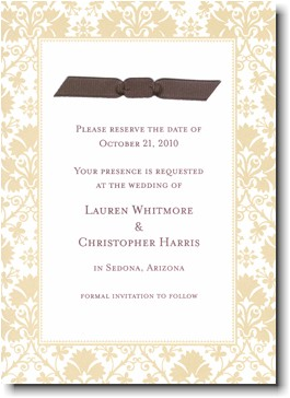 Boatman Geller - Tan Damask Invitations