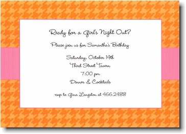 Boatman Geller - Orange Houndstooth/Pink Band Invitations