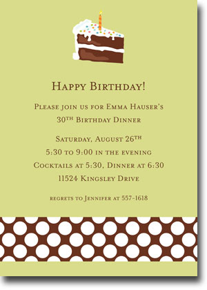 Boatman Geller - Birthday Cake Invitations (V)