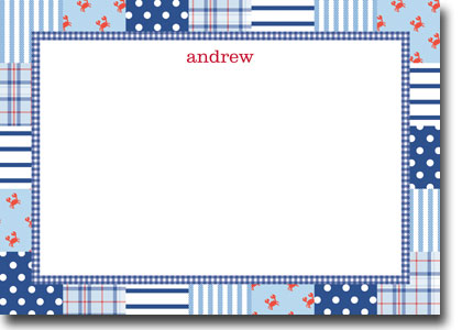 Boatman Geller - Patchwork Blue Birth Announcements/Invitations