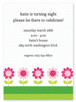 Boatman Geller - Daisies Birth Announcements/Invitations (H)
