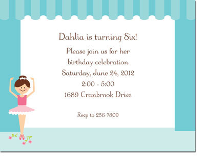 Boatman Geller - Ballerina Invitations