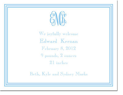 Boatman Geller - Grand Border Blue Invitations