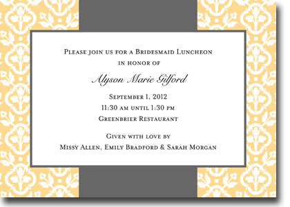 Boatman Geller - Floral Damask Invitations (H)