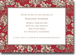 Boatman Geller Invitations - Floral Toile Red