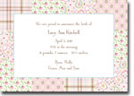 Boatman Geller - Riley Patch Pink Birth Announcements/Invitations