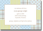 Boatman Geller - Riley Patch Blue Birth Announcements/Invitations