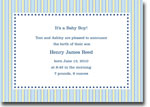 Boatman Geller - Parker Stripe W/Stars Lime Birth Announcements/Invitations