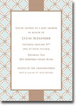 Boatman Geller - Quilted Stitch Blue Birth Announcements/Invitations