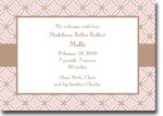 Boatman Geller - Quilted Stitch Pink Birth Announcements/Invitations