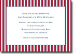 Boatman Geller Invitations - Parker Stripe Red & Blue