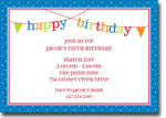 Boatman Geller - Banner Birthday Boy Invitations (H)