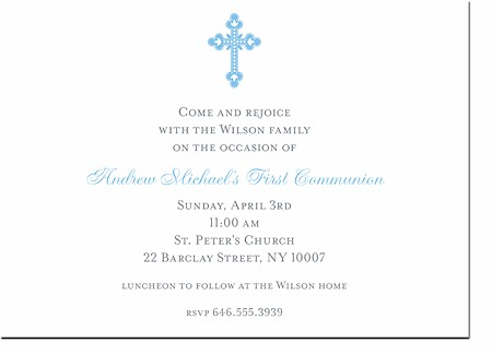 Boatman Geller - Communion (Blue) Invitations