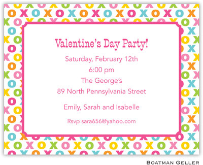 Boatman Geller - Hugs And Kisses Valentine's Day Invitations