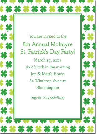 Boatman Geller - Shamrocks St. Patrick's Day Invitations