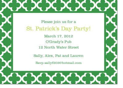 Boatman Geller - Bristol Tile Pine St. Patrick's Day Invitations