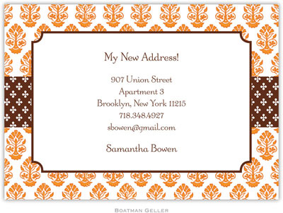 Boatman Geller - Beti Orange Birth Announcements/Invitations