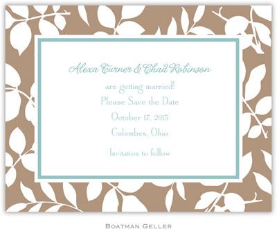 Boatman Geller - Create-Your-Own Birth Announcements/Invitations (Silo Leaves)
