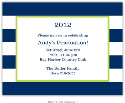 Boatman Geller - Create-Your-Own Birth Announcements/Invitations (Awning Stripe)