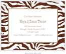 Boatman Geller - Create-Your-Own Birth Announcements/Invitations (Zebra)