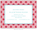 Boatman Geller - Create-Your-Own Birth Announcements/Invitations (Lattice)