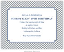 Boatman Geller - Create-Your-Own Birth Announcements/Invitations (Herringbone)