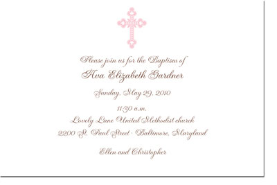 Boatman Geller - Ornate Cross Birth Announcements/Invitations