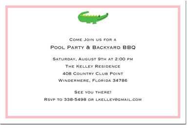 Boatman Geller - Alligator Pink Birth Announcements/Invitations