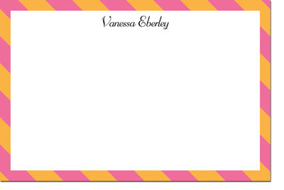 Boatman Geller - Diagonal Stripe Pink and Orange Birth Announcements/Invitations